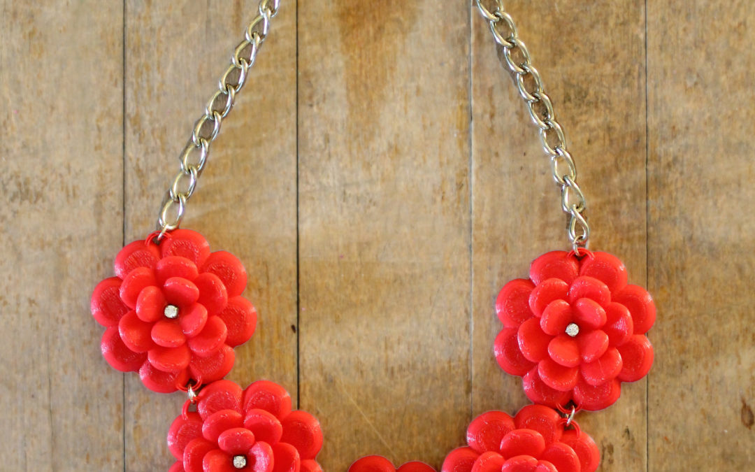DIY J.Crew Rose Wreath Necklace – With a 3D Printer
