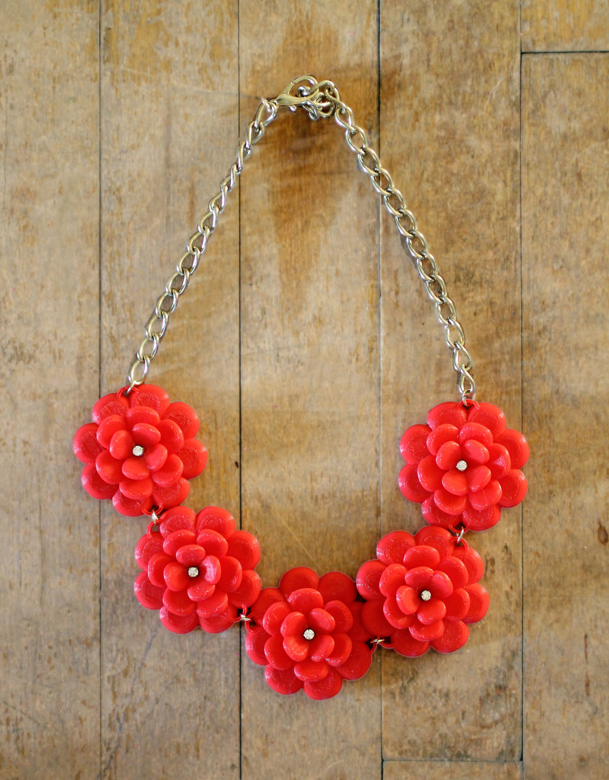 DIY J.Crew Rose Wreath Necklace