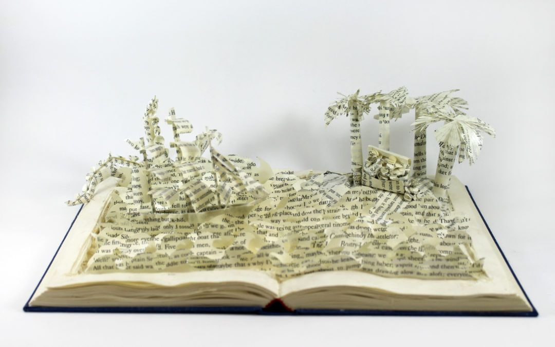 Book Sculpture: Treasure Island