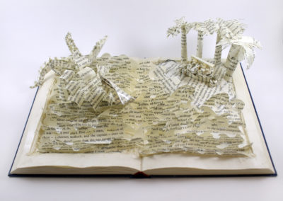 From Above, Treasure Island Book Sculpture by Jamie B. Hannigan