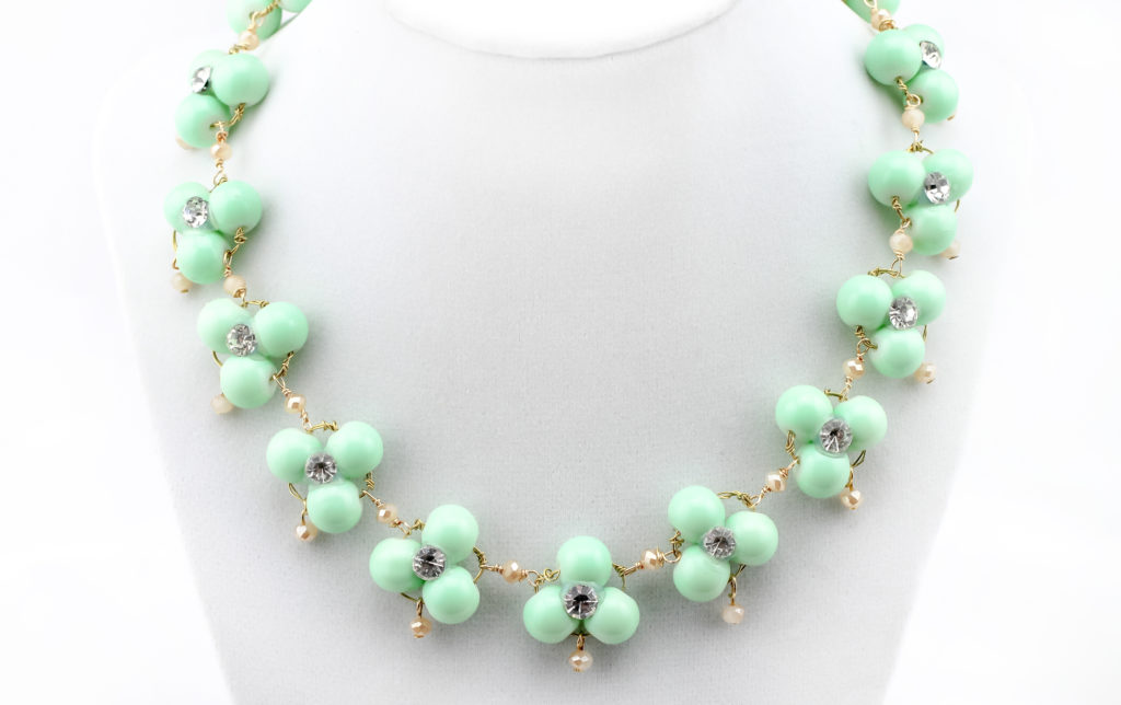 DIY J Crew Inspired Mint Necklace