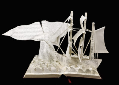 Moby Dick Custom Book Sculpture front view 1