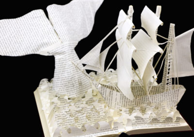 Moby Dick Custom Book Sculpture left view 1