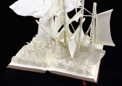 Moby Dick Custom Book Sculpture right side view 1