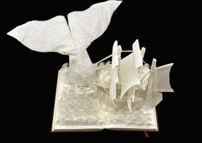 Moby Dick Custom Book Sculpture top view 1