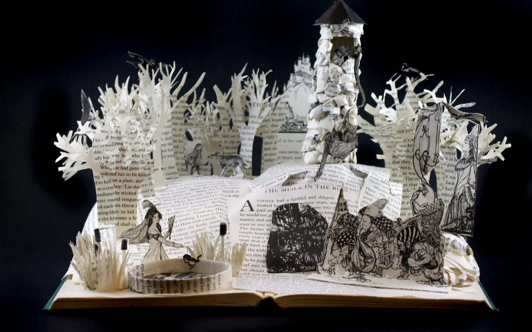 Book Sculpture: Grimm's Fairytales