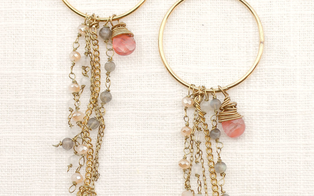 DIY Anthro-Inspired Fringed Hoops