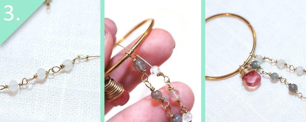 Step 3 - DIY Anthro-Inspired Fringed Hoops by jamie b. hannigan