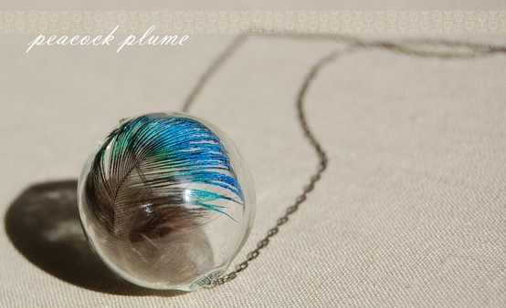 DIY – Peacock Plume Necklace
