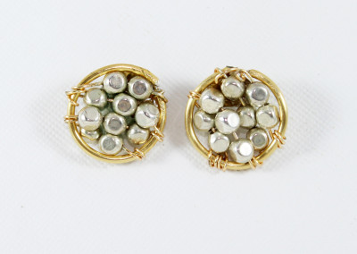 silver and gold studs