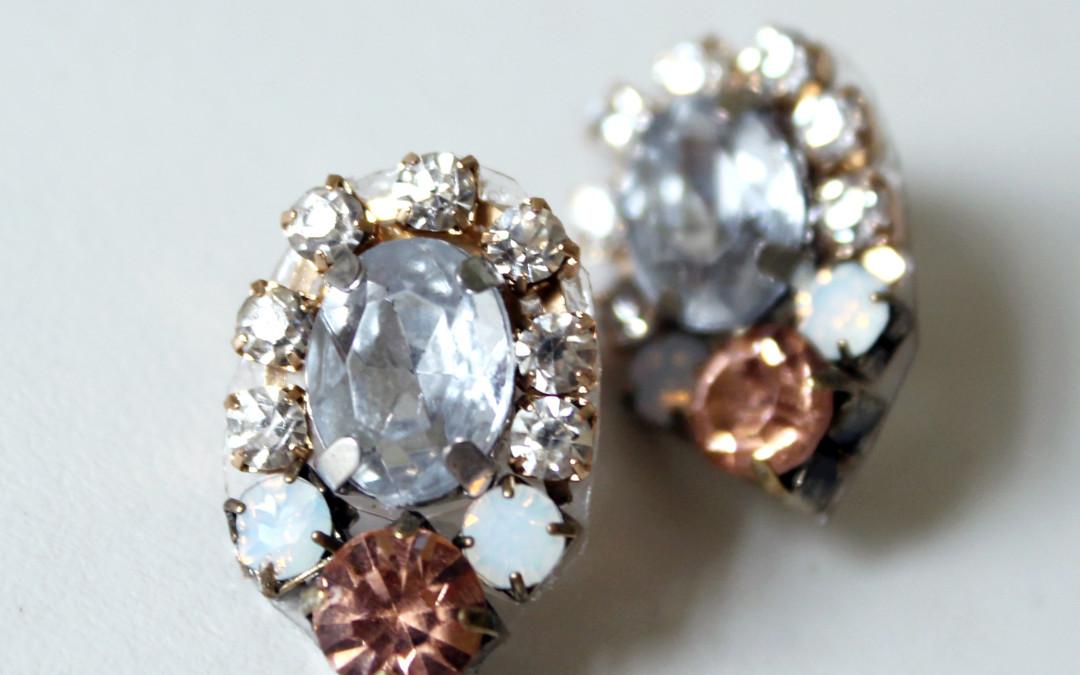 DIY – Crystal Cluster Statement Earrings