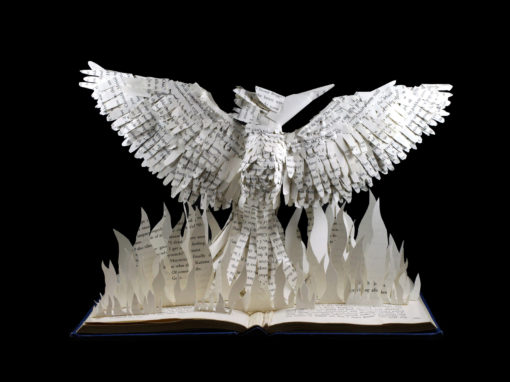 Book Sculpture: Hunger Games Mockingjay