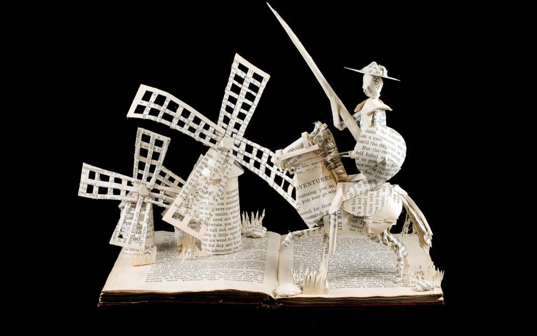 Book Sculpture: Don Quixote