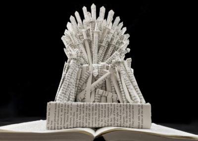 GoT Iron Throne Book Sculpture by Jamie B Hannigan - View from Below