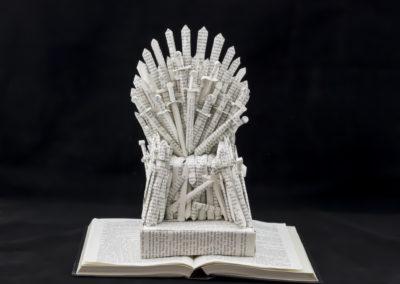 GoT Iron Throne Book Sculpture by Jamie B Hannigan - Front 2