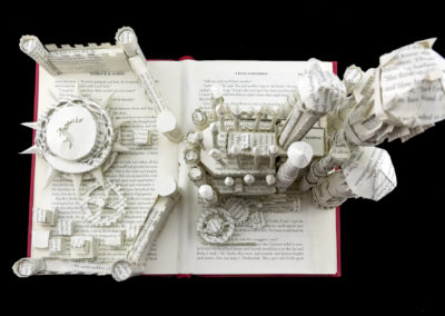 King's Landing Game of Thrones Book Sculpture by Jamie B. Hannigan - View from Above