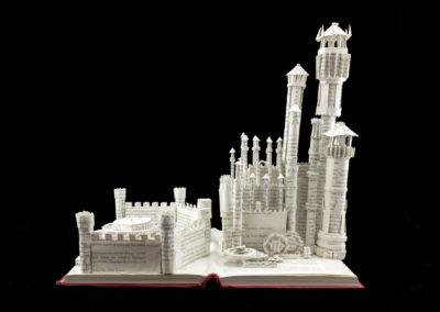 King's Landing Game of Thrones Book Sculpture by Jamie B. Hannigan - Front View 2