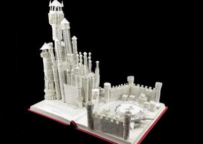 King's Landing Game of Thrones Book Sculpture by Jamie B. Hannigan - Back View