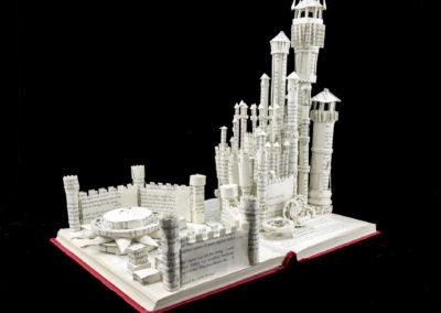 King's Landing Game of Thrones Book Sculpture by Jamie B. Hannigan - Front Left