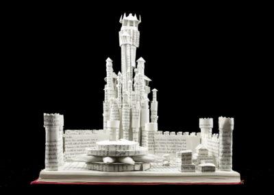 King's Landing Game of Thrones Book Sculpture by Jamie B. Hannigan