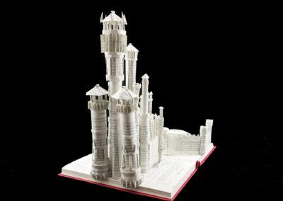 King's Landing Game of Thrones Book Sculpture by Jamie B. Hannigan - Rear View