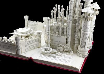 King's Landing Game of Thrones Book Sculpture by Jamie B. Hannigan - Red Keep Detail