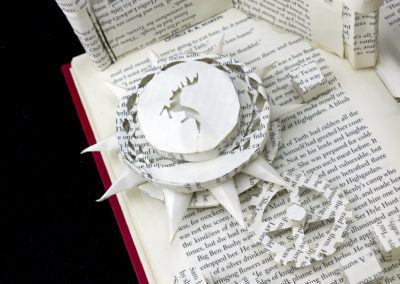 King's Landing Game of Thrones Book Sculpture by Jamie B. Hannigan - Baratheon Sigil Detail