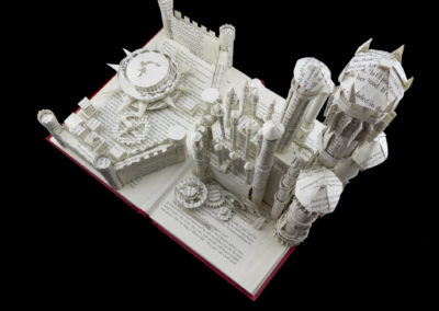 King's Landing Game of Thrones Book Sculpture by Jamie B. Hannigan - View from Above 3