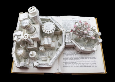 Winterfell Game of Thrones Book Sculpture - Above