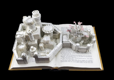 Winterfell Game of Thrones Book Sculpture - Front Above 2