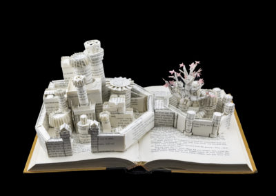 Winterfell Game of Thrones Book Sculpture - Front Above