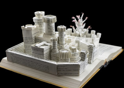 Winterfell Game of Thrones Book Sculpture - Left