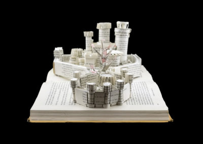 Winterfell Game of Thrones Book Sculpture - Right