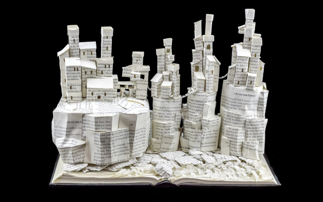 Book Sculpture: Pyke and The Iron Islands (A Feast for Crows)