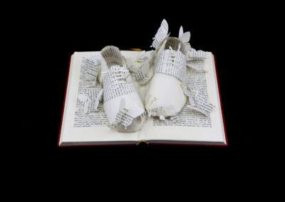 Above View - Lolita - Custom Book Sculpture by Jamie B. Hannigan