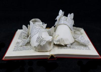 Front View - Lolita - Custom Book Sculpture by Jamie B. Hannigan