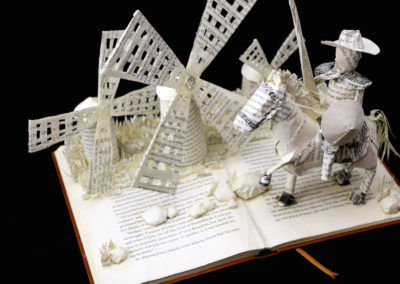 Custom Book Sculpture by Jamie B. Hannigan - Don Quixote of the Mancha - View 2