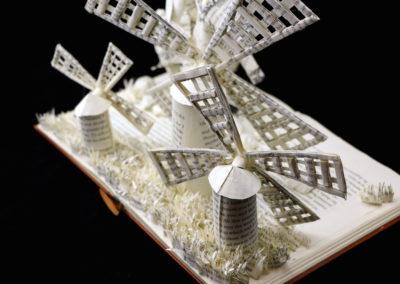 Custom Book Sculpture by Jamie B. Hannigan - Don Quixote of the Mancha - Reverse View