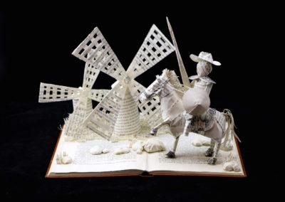 Custom Book Sculpture by Jamie B. Hannigan - Don Quixote of the Mancha - View 4