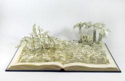 Treasure Island Book Sculpture by Jamie B. Hannigan