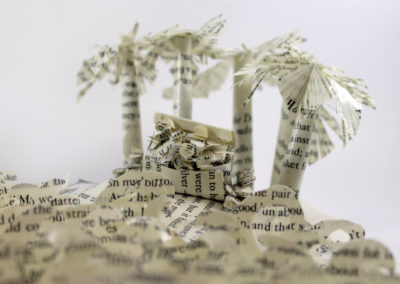 Treasure Chest - Treasure Island Book Sculpture by Jamie B. Hannigan