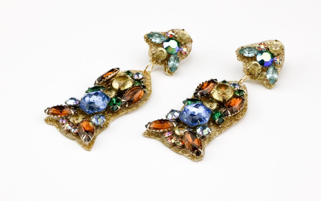 DIY J.Crew Inspired Sparkle Earrings