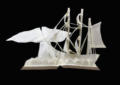 Moby Dick Custom Book Sculpture front view 6