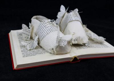 Side View - Lolita - Custom Book Sculpture by Jamie B. Hannigan